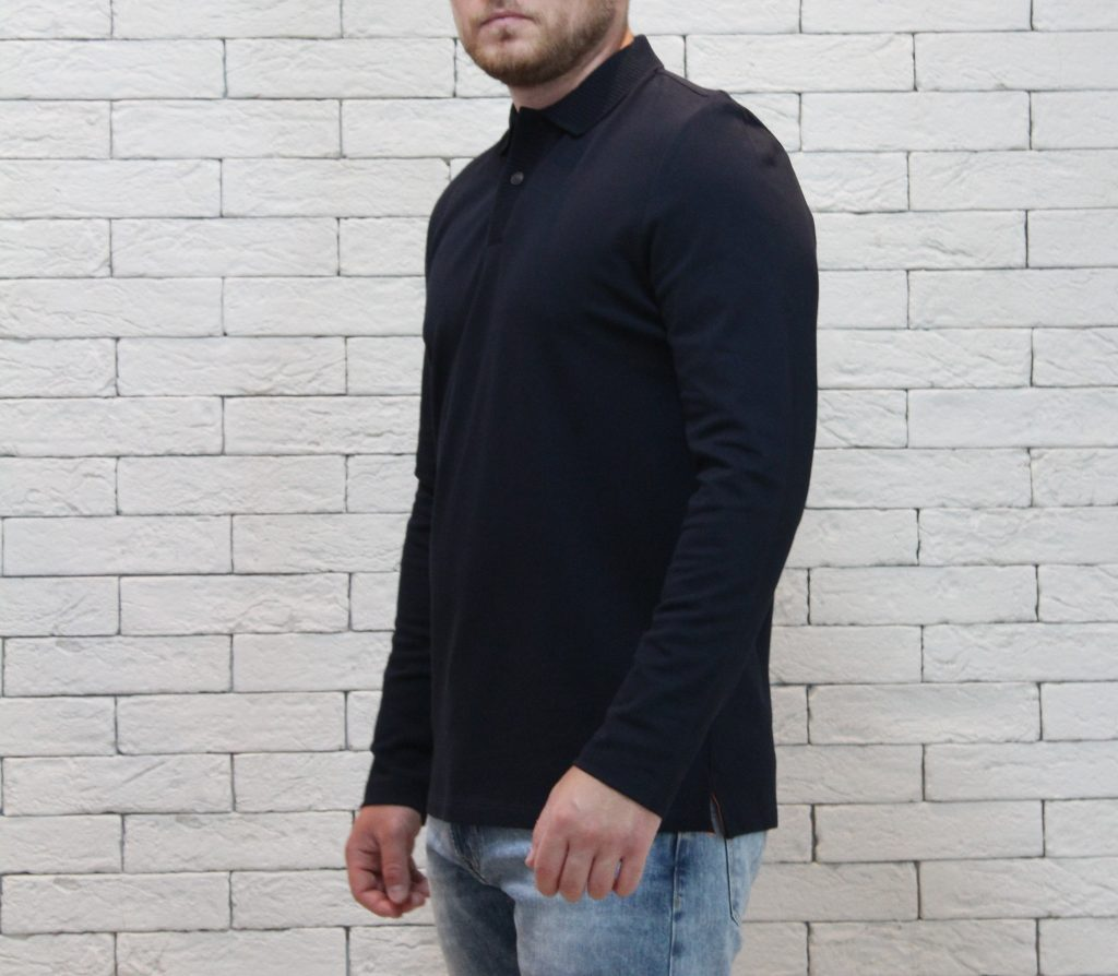 Poloshirt long sleeve pique